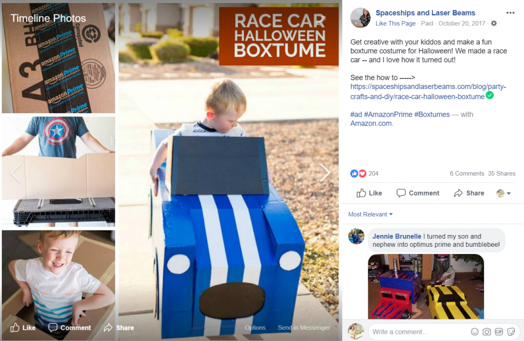 amazon prime boxtumes campaign_influencer marketing campaign ideas