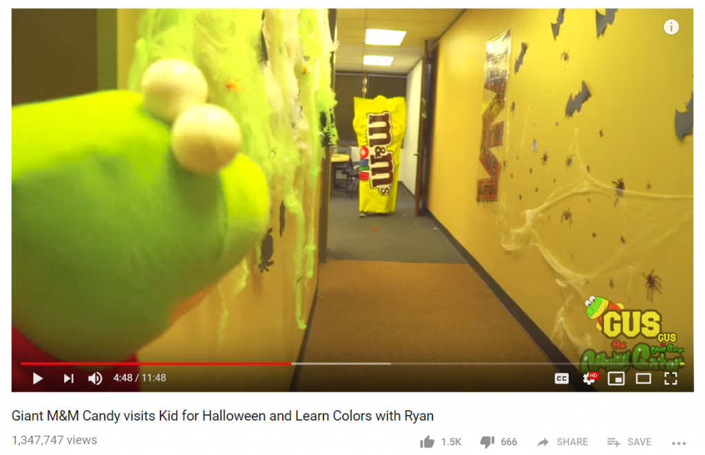 m&ms video campaign_halloween campaign ideas