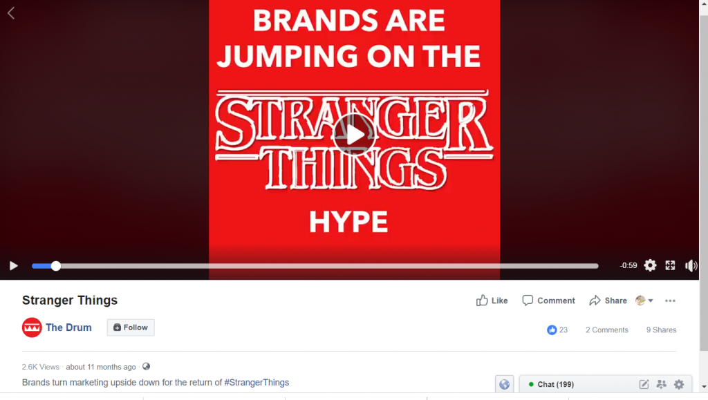 netflix stranger things facebook campaign_halloween campaign ideas