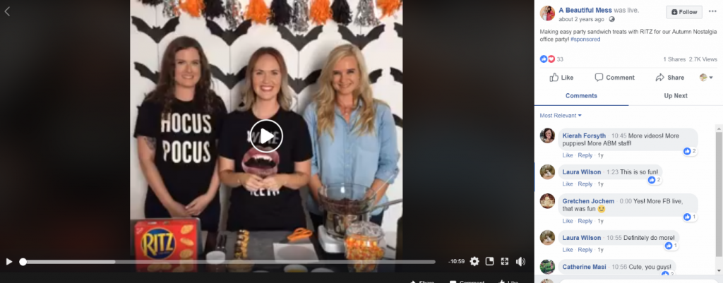ritz live streaming_halloween campaign ideas