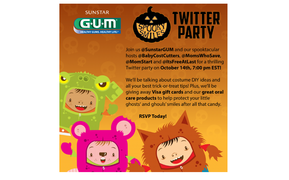 sunstar gum spooky smiles twitter party_halloween campaign ideas