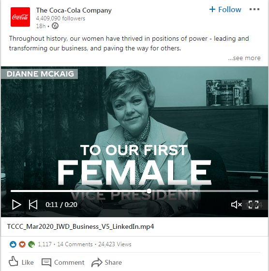 Coca Cola Uses LinkedIn