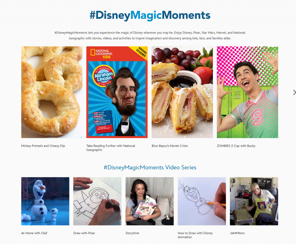 Disney Virtual Marketing Campaign